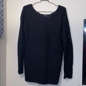 Sweaters - TROUVE black knit sweater with pocket M